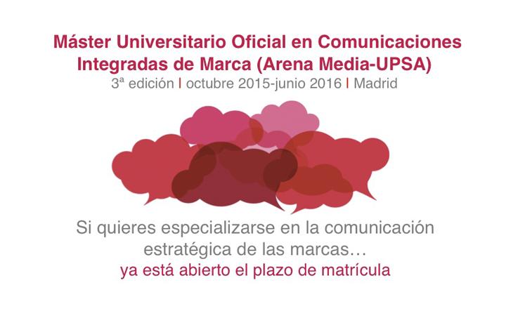 Master oficial en comunicaciones integradas de marca | 3ª Edición