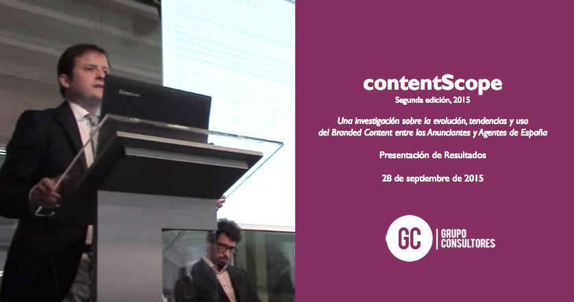 Arena Media, Primera Agencia de Medios en el ranking del ContentScope 2015