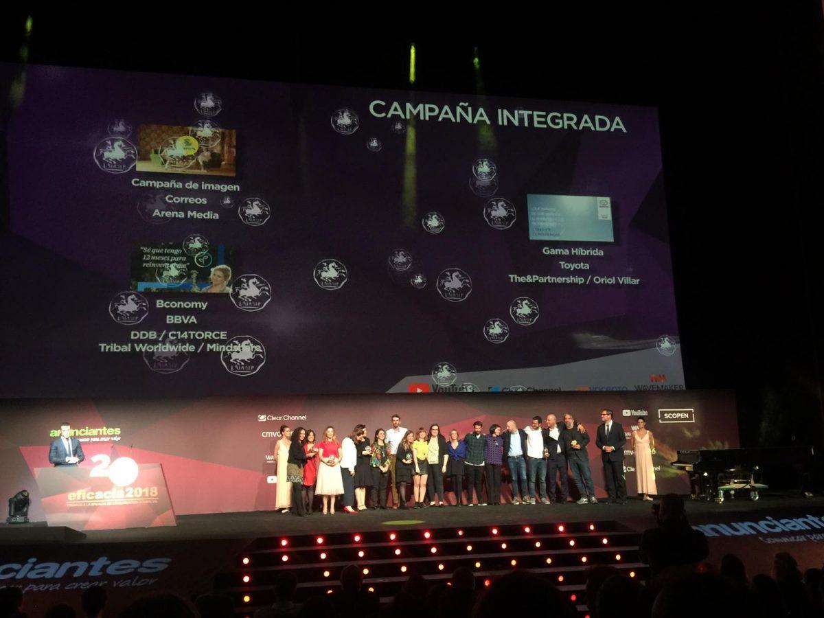 Correos, Arena Media y Media Entertainment ganan el EFI de bronce en la categoría de Campaña Integrada