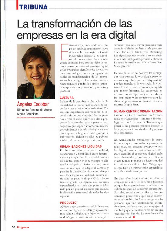 La transformación de las empresas en la era digital, por Ángeles Escobar