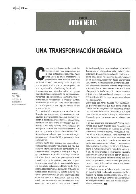 Una transformación orgánica, por Marga Ollero