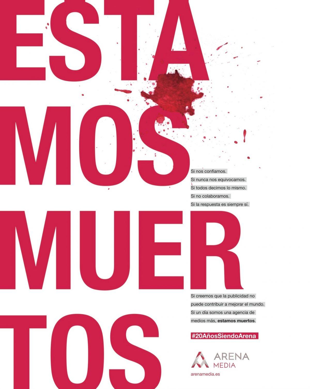 Arena estrena nueva campaña para celebrar que lleva #20AñosSiendoArena