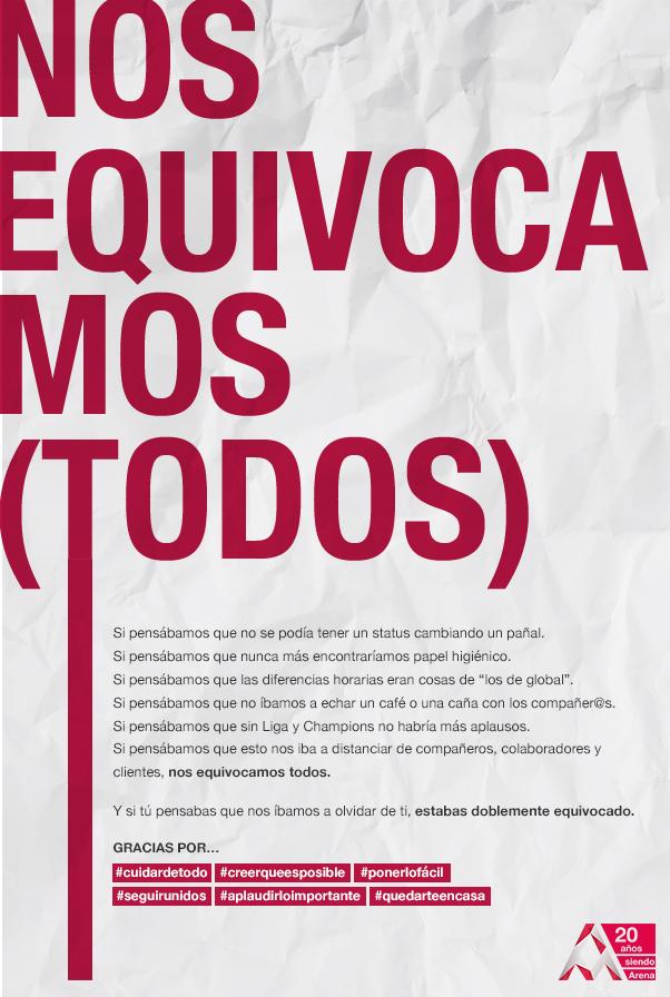 NOS EQUIVOCAMOS (TODOS)
