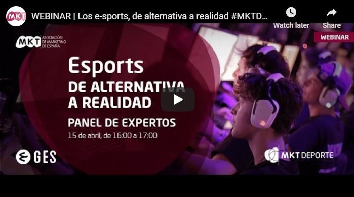 """Íñigo de Luis participa en el webinar """"Los esports, de alternativa a realidad"""", organizado por la Asociación de Marketing y GES"""