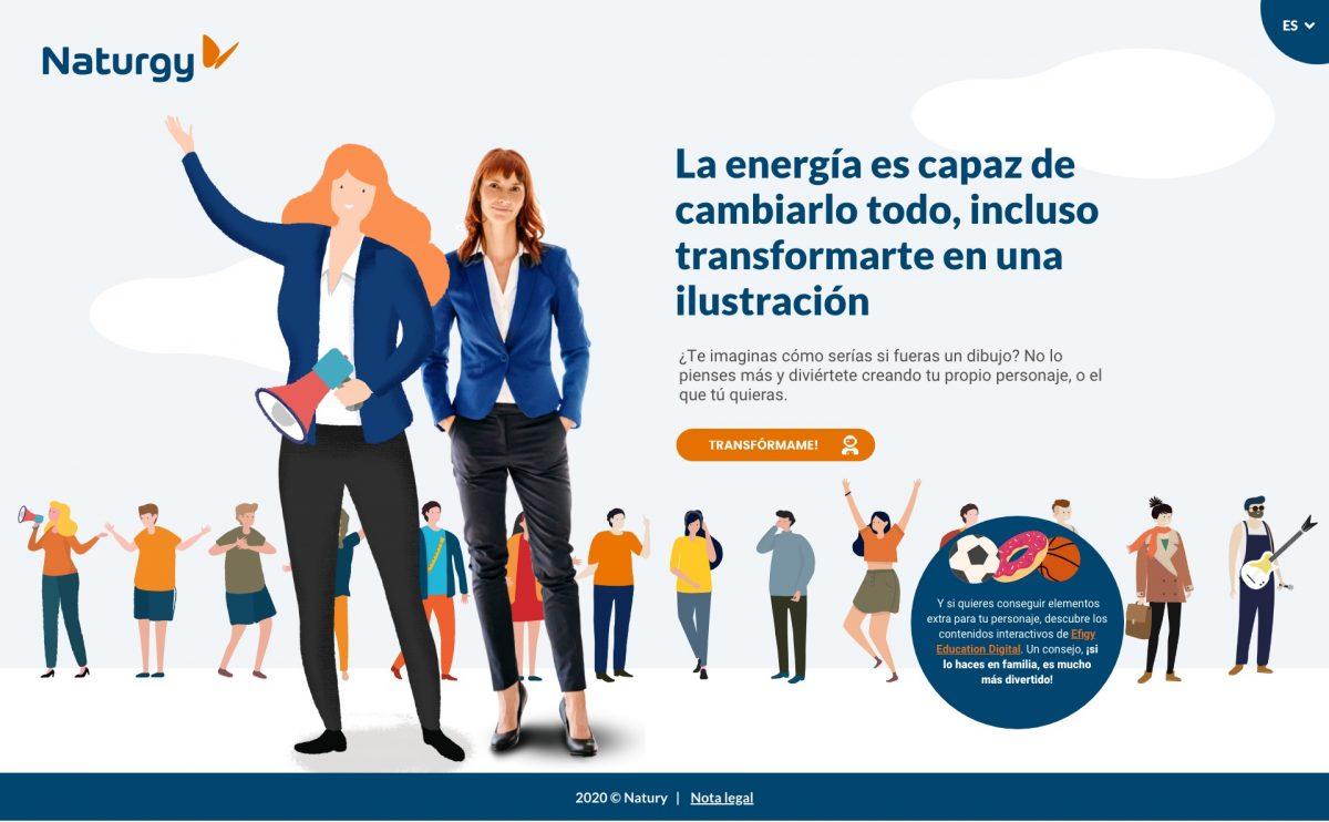 Arena Media y Naturgy crean la aplicación web TransforME para crear tu avatar y difundir consejos de eficiencia